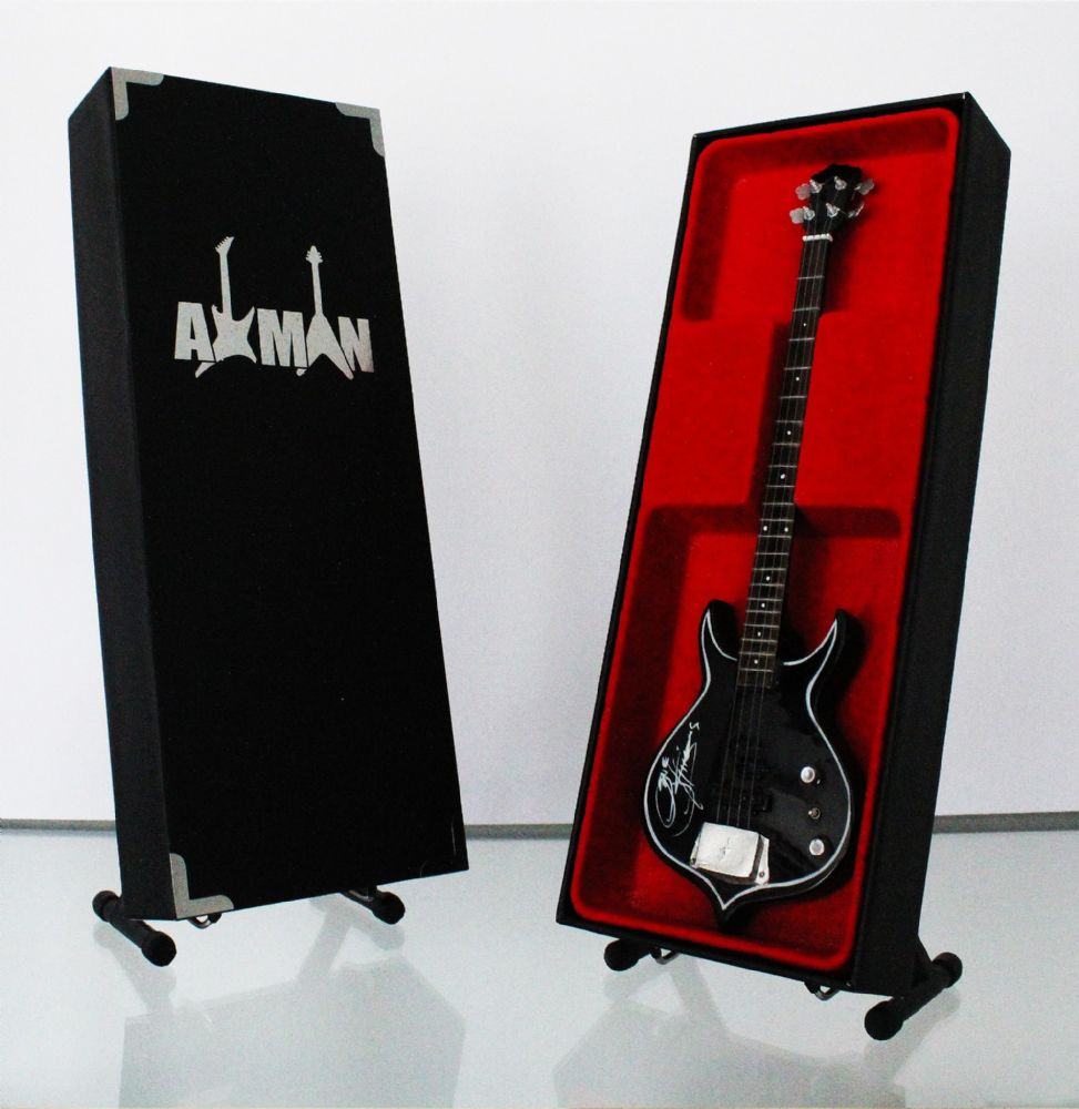 (Kiss) Gene Simmons: Punisher Bass - Miniature Guitar Replica (UK Seller)